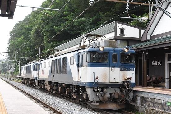 2020年8月8日撮影 篠ノ井線8467レ EF64更新色重連 姨捨駅