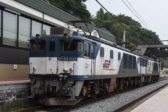 2020年8月8日撮影 篠ノ井線8467レ EF64更新色重連 姨捨駅 お尻側