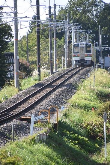 2020年9月27日撮影 飯田線 40‰ 206M 213系 坂の頂点に