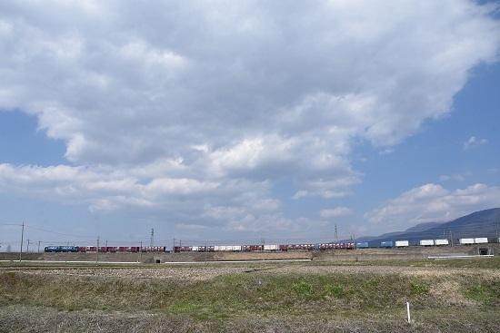 2020年4月4日撮影 東線貨物2083レ EH200-6号機牽引 コンテナ貨物