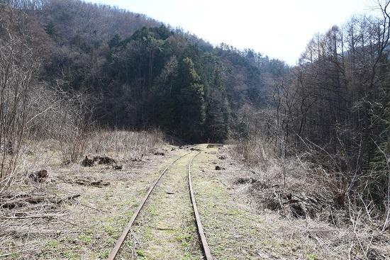 2020年4月4日撮影 辰野線側から旧東塩尻駅を見る