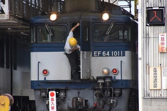 2020年6月6日撮影 塩尻機関区篠ノ井派出所 EF64-1011号機の作業灯点灯