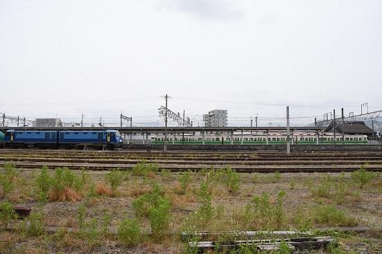 2020年6月6日撮影 篠ノ井駅にてEH200-901号機と115系 初代長野色