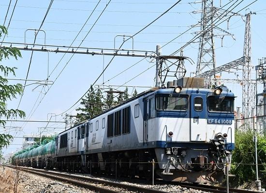 2020年8月22日撮影 塩尻駅手前にて西線貨物8084レ