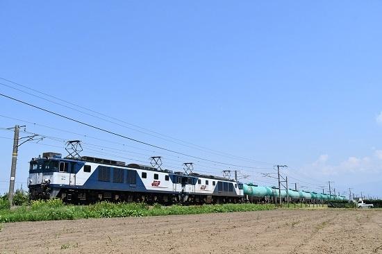 2020年8月22日撮影 塩尻→洗馬にて西線貨物8084レ