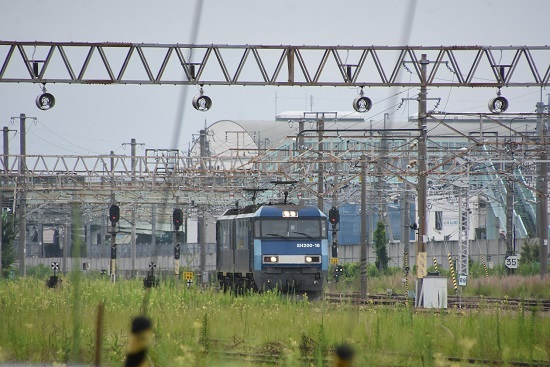 2020年8月8日撮影 坂城貨物85レ EH200-18号機 単機回送