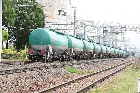2020年6月6日撮影 南松本にて 東線貨物2084レ 後撃ちして緑タキ
