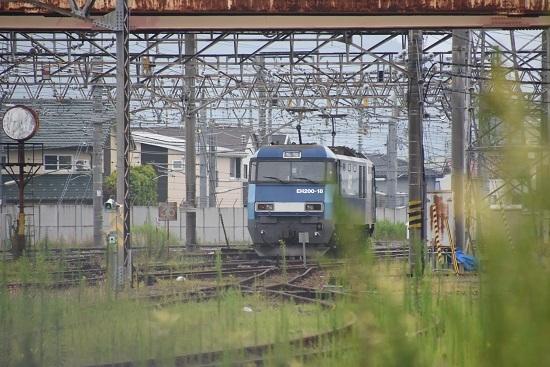 2020年8月8日撮影 坂城貨物85レ EH200-18号機 篠ノ井派出所へ入区