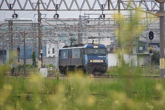 2020年8月8日撮影 北長野から戻って来た 単1384レ EH200-14号機