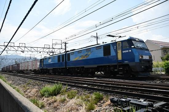 2020年8月22日撮影 東線貨物2083レ EH200-18号機を引き寄せて