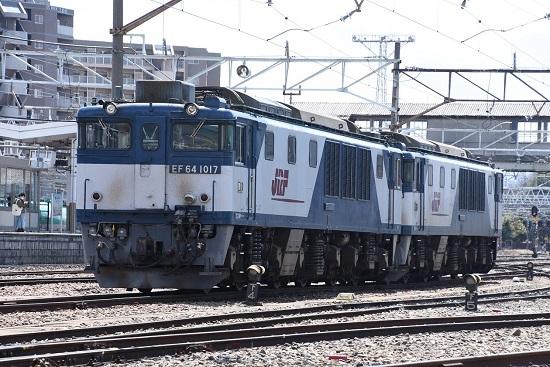 2020年4月5日撮影 南松本にて EF64-1017+1008号機
