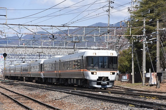2020年4月5日撮影 南松本にて 1012M 383系WVしなの12号