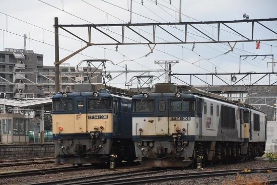 2020年6月20日撮影 南松本にて EF64-1036と1008号機の並び