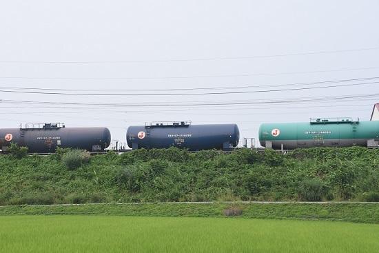 2020年8月8日撮影 東線貨物5460レ 緑タキ タキ43000