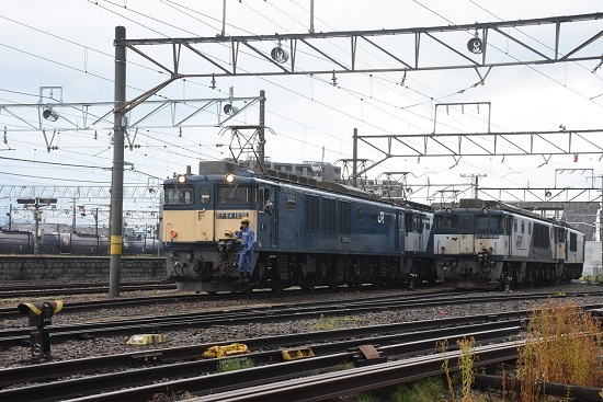 2020年6月20日撮影 南松本にて 篠ノ井線8467レ EF64-1036+1003号 機回し発車
