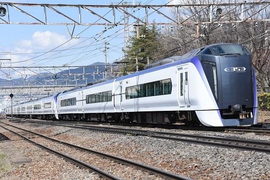 2020年4月5日撮影 南松本にて E353系 34M あずさ34号