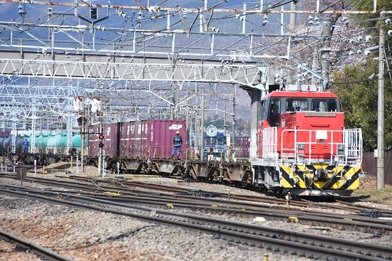 2020年4月5日撮影 東線貨物2083レ 入れ替え HD300-10号機 その1