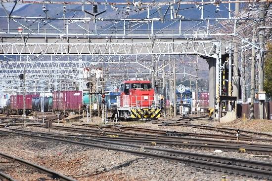 2020年4月5日撮影 東線貨物2083レ 入れ替え HD300-10号機 その2