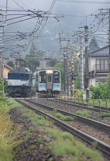 2020年6月20日撮影 篠ノ井線8467レ EF64-1036号機とE127系