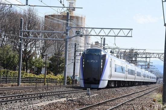 2020年4月5日撮影 南松本にて E353系 19M あずさ19号
