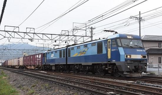 2020年10月3日撮影 東線貨物2083レ EH200-12号機 塩尻駅先