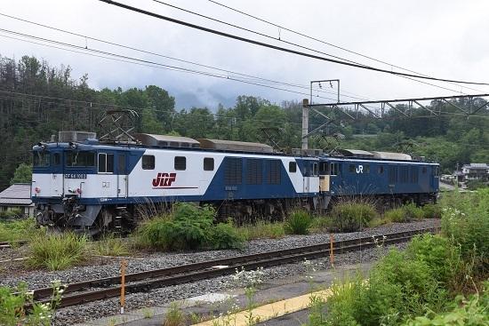 2020年6月20日撮影 篠ノ井線8467レ 坂北駅に止まるEF64重連