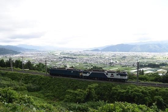 2020年6月20日撮影 篠ノ井線8467レ 善光寺平をバックに