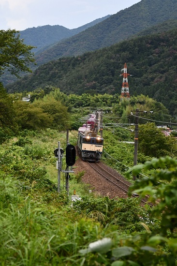 2020年8月30日撮影 西線貨物81レ 伊奈川鉄橋をワイドで