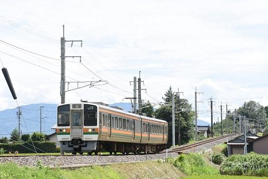 2020年8月10日撮影 飯田線 221M 213系を40‰を駆け下りる
