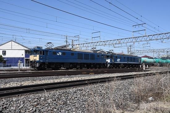2020年4月11日撮影 塩尻駅にて西線貨物8084レ 原色+広島更新色