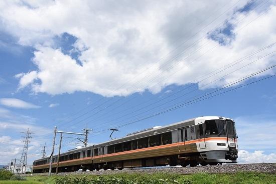 2020年8月10日撮影 飯田線は373系回送伊那松島行き 40‰駆け下りて来る