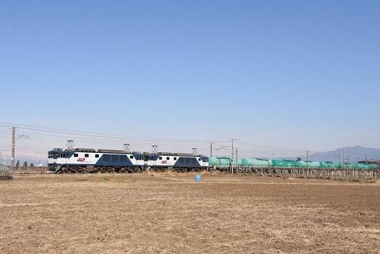 2020年12月27日撮影 西線貨物8084レ EF64-1002+1003号機