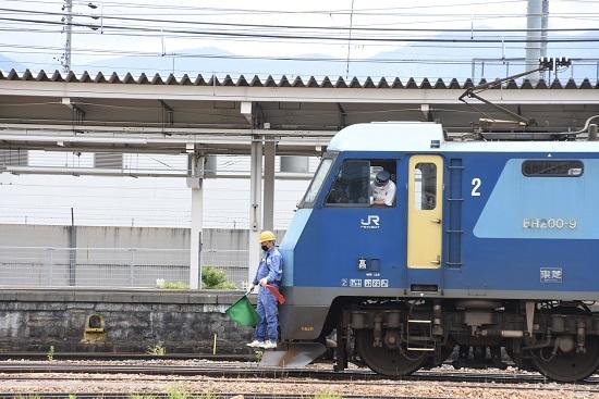 2020年6月20日撮影 坂城貨物5774レ EH200-9号機 赤旗STOP