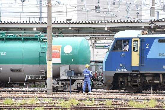2020年6月20日撮影 篠ノ井駅にて 坂城貨物5774レ 機回し 緑旗