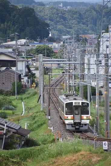 2020年8月10日撮影 飯田線は40‰にて213系回送 坂を駆け上がる助走