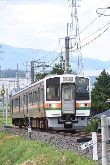 2020年8月10日撮影 飯田線は40‰にて213系回送 坂を駆け上がる