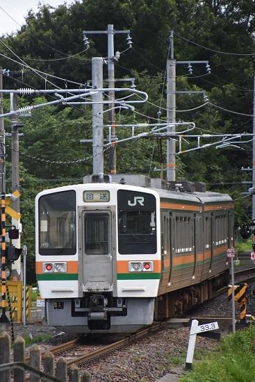 2020年8月10日撮影 飯田線は213系回送を後撃ちして33.3‰
