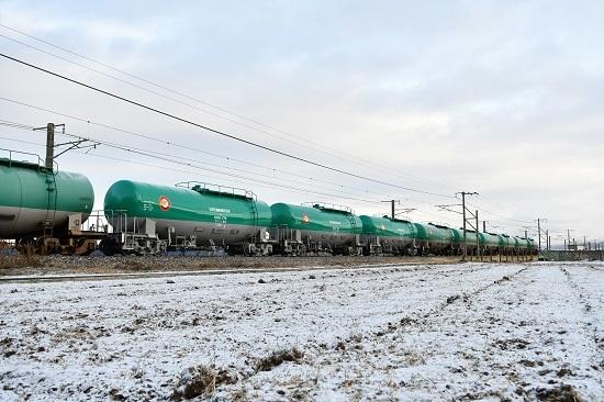 2020年12月19日撮影 西線貨物6088レ 緑タキ