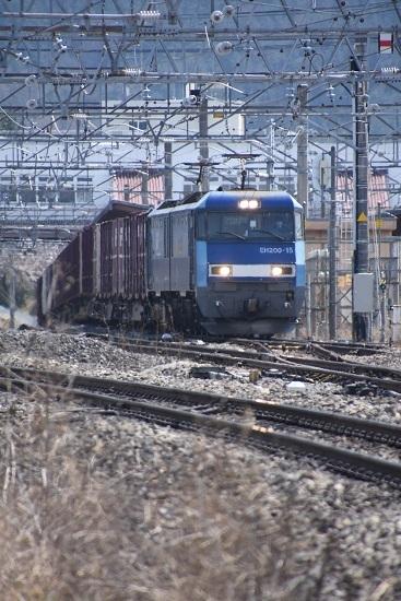 2020年4月11日撮影 東線貨物2083レ 塩尻駅3番線通過