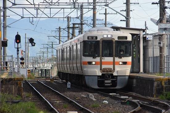 2020年8月10日撮影 飯田線は羽場駅にて313系1700番台回送