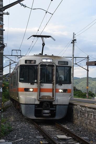 2020年8月8日撮影 飯田線は伊那新町駅にて313系1700番台回送折り返し