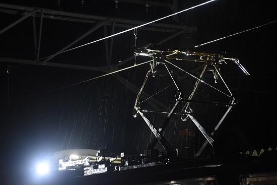 2020年10月8日撮影 飯田線は北殿駅にてキヤ95 DR2編成 パン上げ