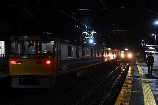 2020年10月8日撮影 北殿駅にてキヤ95と222M 213系入線
