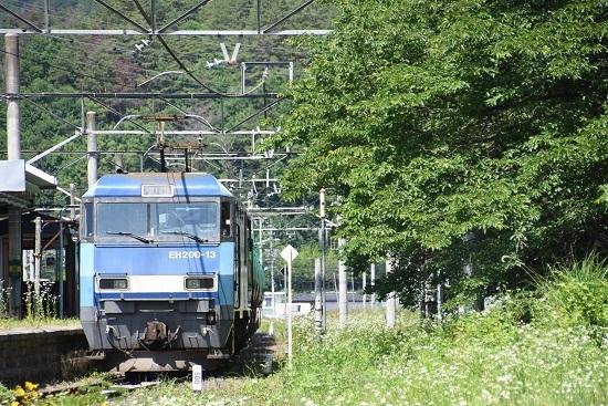 2020年6月20日撮影 篠ノ井線2084レ EH200-13号機 西条駅