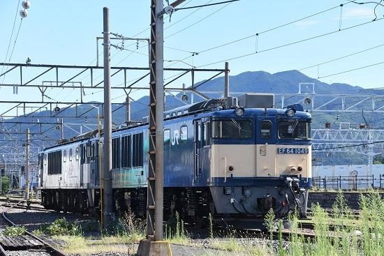 2020年8月11日撮影 南松本にてEF64-1049+1011号機