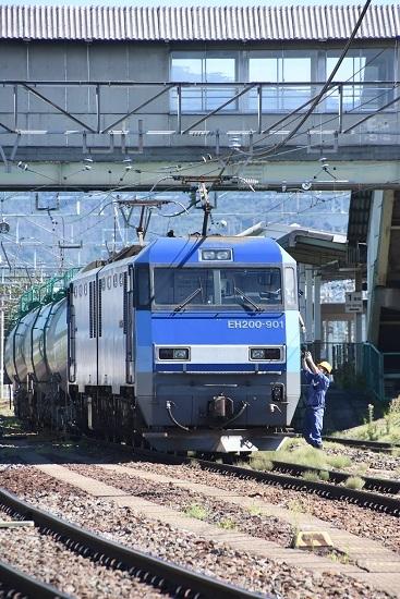 2020年8月11日撮影 南松本にて東線貨物2080レ 無線機返却