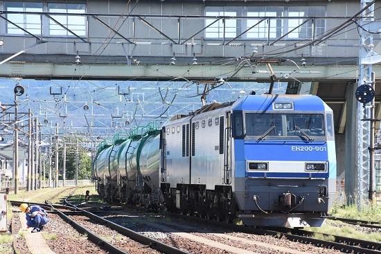 2020年8月11日撮影 南松本にて東線貨物2080レ EH200-901号機 トークバック