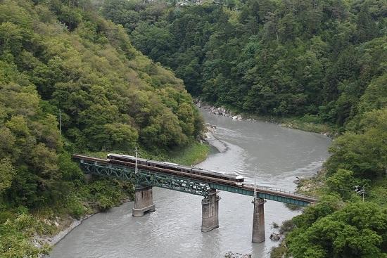 2020年6月21日撮影 飯田線 そらさんぽ天竜峡より 21M 373系 WV伊那路1号