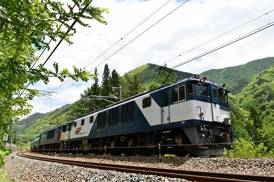 2020年5月23日撮影 西線貨物8084レ EF64-1017+1023号機