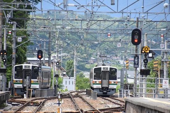 2020年6月21日 飯田線 天竜峡駅 側線に止まる213系